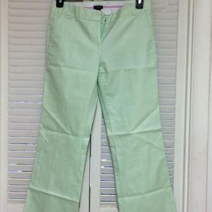 J.Crew Low Fit Pastel Green Pants